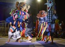 Festival d'international de masque d'exposition de danse du Laos photographie stock libre de droits