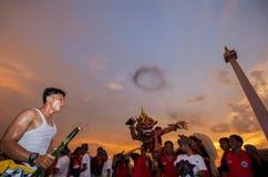 Festival d'Ogoh-Ogoh, le 11 mars 2013 Photographie stock libre de droits