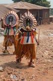 Festival d'Otuo Ukpesose - l'UIT déguisent au Nigéria Image stock