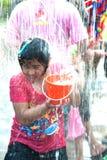 Festival da água em Tailândia. Fotografia de Stock