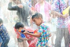 Festival da água em Tailândia. Foto de Stock Royalty Free