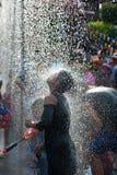 Festival da água em Tailândia. Fotografia de Stock Royalty Free
