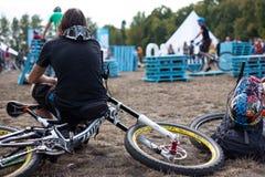 Festival da bicicleta do jogo no festival internacional do cultur feito sob encomenda Fotos de Stock Royalty Free