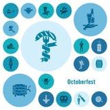 Festival da cerveja de Oktoberfest Ilustração de cor Imagens de Stock Royalty Free