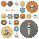 Festival da cerveja de Oktoberfest Ilustração de cor Imagens de Stock