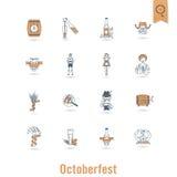 Festival da cerveja de Oktoberfest Ilustração de cor Fotografia de Stock Royalty Free