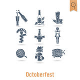 Festival da cerveja de Oktoberfest Ilustração de cor Foto de Stock