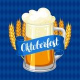Festival da cerveja de Oktoberfest Ilustração de cor Ilustração ou cartaz para a festa Fotos de Stock