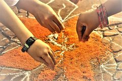 Festival da colheita do festival de Pongal dedicado ao deus de sol imagens de stock