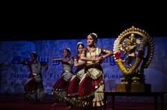 Festival da dança de Mamallapuram guardado em Mamallapuram fotos de stock royalty free
