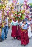 Festival da flor & da palma em Panchimalco, El Salvador Foto de Stock