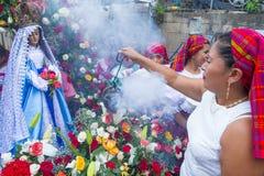 Festival da flor & da palma em Panchimalco, El Salvador Fotos de Stock