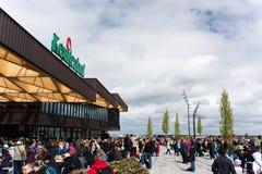 Festival da flor em Keukenhof na mola em março de 2017 Imagens de Stock