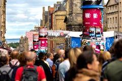 Festival 2018 da franja de Edimburgo na milha real foto de stock