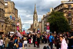 Festival 2018 da franja de Edimburgo na milha real fotografia de stock royalty free