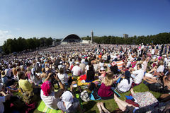 Festival 2014 da música de Laulupidu Foto de Stock