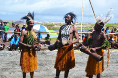 Festival Papuá-Nova Guiné da máscara da dança tradicional Foto de Stock