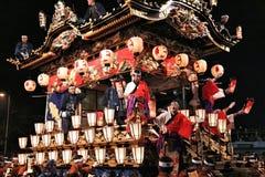 Festival da noite de Chichibu fotos de stock
