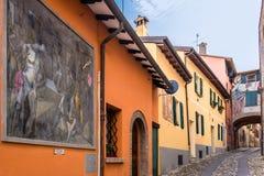 Festival da parede pintada em Dozza Fotografia de Stock Royalty Free