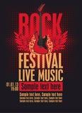 Festival da rocha do quadro de avisos Imagem de Stock Royalty Free