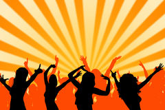 Festival dance. Having a jolly good time at a dance festival or in a discotheque Stock Photo