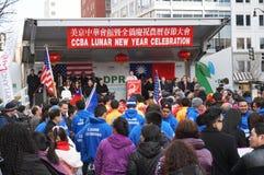 Festival dans Chinatown du centre Image libre de droits
