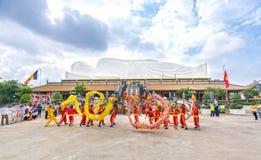 Festival dans le vieux temple photographie stock libre de droits