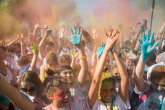 Festival das cores, Rússia de Holi Fotografia de Stock Royalty Free
