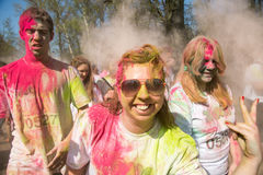 Festival das cores, Rússia de Holi Foto de Stock