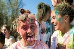 Festival das cores, Rússia de Holi Fotografia de Stock