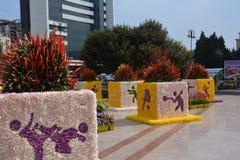 Festival das flores na cidade de Baku, Azerbaijão Fotos de Stock Royalty Free