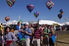 Festival de aerostación de New Jersey imagenes de archivo