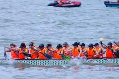 Festival de bateau de dragon dans l'étranger de Guangzhou Chine image stock