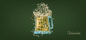 Festival de bière d'Oktoberfest de vecteur illustration stock