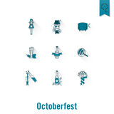 Festival de bière d'Oktoberfest Illustration de couleur Images stock