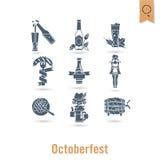 Festival de bière d'Oktoberfest Illustration de couleur Photo stock