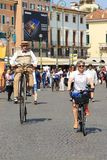 Festival de bicyclette à Vérone photo stock