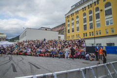 Festival de bleus de Notodden, tribune de VIP Photos libres de droits