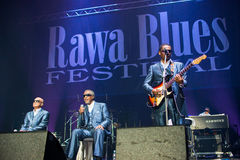 Festival 2014 de bleus de Rawa : Les garçons aveugles de l'Alabama Image libre de droits