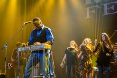 Festival 2014 de bleus de Rawa : Robert Randolph et la bande de famille Images libres de droits