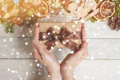 Festival de bonne année de vue supérieure ou concept de jour d'anniversaire et de Joyeux Noël Image stock