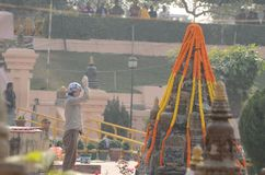 Festival de Bouddha dans Bodhgaya, le Bihar, Inde Photographie stock