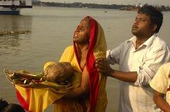 Festival de Chatt en Inde. Image libre de droits