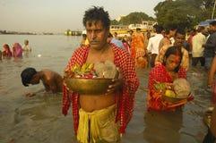 Festival de Chatt en Inde. Photographie stock