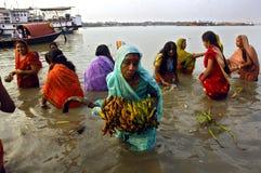 Festival de Chatt en Inde. Photos libres de droits
