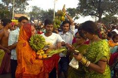 Festival de Chatt en Inde. Photo stock