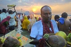 Festival de Chatt en Inde. Images libres de droits
