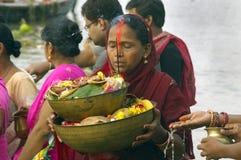 Festival de Chatt en Inde Photos stock