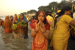 Festival de Chatt en Inde Images stock