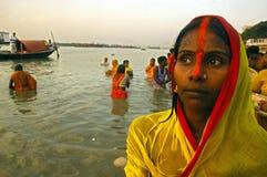 Festival de Chatt en la India. Imagen de archivo libre de regalías